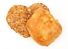 Heart shaped wholemeal bun Royalty Free Stock Image