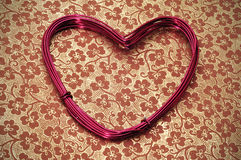 Heart-shaped wire roll Royalty Free Stock Images