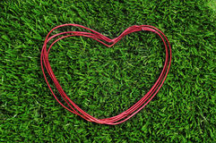 Heart-shaped wire roll Stock Image