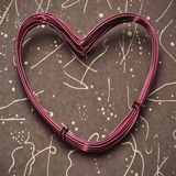 Heart-shaped wire roll Royalty Free Stock Photos