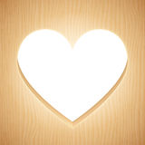 Heart Shaped Wood Frame. Heart shaped frame cut from wood plank Royalty Free Stock Photos