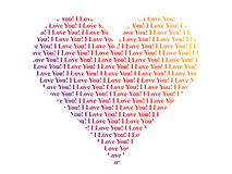 Heart shaped words I Love You Stock Photo