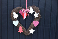 Heart shaped wreath Stock Photo