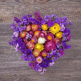 Heart shaped wreath Stock Images
