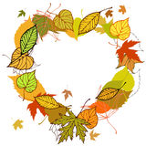 Heart shaped wreath Stock Image