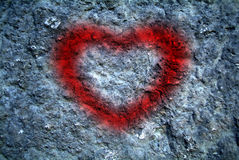Heart shaped writing on the wall Royalty Free Stock Photos