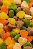 Heart shaperd delicious candy and sweets Stock Photo