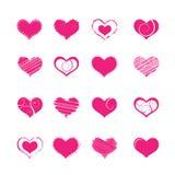 Heart shapes vector illustration