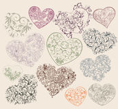 Heart-shapes stock illustration