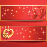 Heart shapes on the abstract background to the Valentine's day. Royalty Free Stock Photography