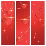 Heart shapes on the abstract background to the Valentine's day. Royalty Free Stock Images