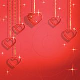 Heart shapes on the abstract background to the Valentines day. Royalty Free Stock Images
