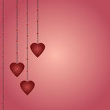 Heart Shapes Abstract Royalty Free Stock Photography