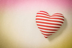 Heart shapes on abstract light glitter background Stock Photo