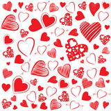 Heart Shapes Background Stock Images