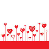 Heart Shapes Background stock illustration