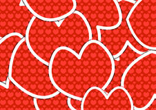 Heart Shapes Background of Valentin`s Day Royalty Free Stock Photos
