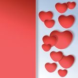 Heart shapes on colorful background to the Valentines day. Stock Images