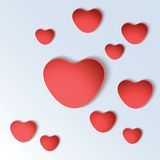 Heart shapes on colorful background. Royalty Free Stock Photography