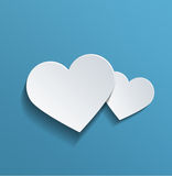 Heart Shapes with Copy Space Against Sky Blue Royalty Free Stock Images