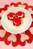 Heart Shapes and Cupcakes Stock Images