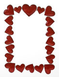 Heart shapes frame. Frame made from heart shapes Royalty Free Stock Photos