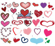 Heart shapes hand drawn Royalty Free Stock Photo