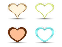 Heart shapes on isolated background. Royalty Free Stock Image