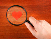 Heart Shapes and Loupe Stock Photos