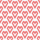 Heart shapes made by triangles seamless pattern Stock Images