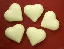 Heart shapes natural soap Stock Photo