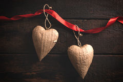 Heart shapes objects Stock Photography