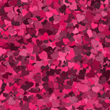 Heart shapes on pink Stock Photography