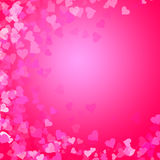 Heart shapes on pink Royalty Free Stock Photography