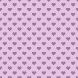 Heart shapes polka pattern Stock Photos