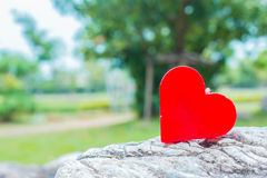 Heart shapes on a rock. Royalty Free Stock Photos