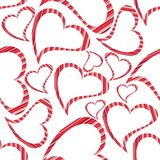 Heart shapes on seamless white background. Royalty Free Stock Images