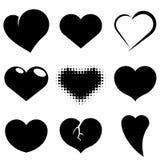 Heart shapes set. Stock Photo