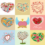 Heart shapes set Royalty Free Stock Image