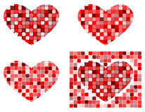 Heart shapes. vector Royalty Free Stock Photos