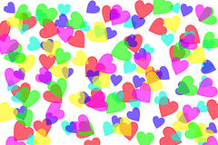 Heart shapes on white Royalty Free Stock Photo