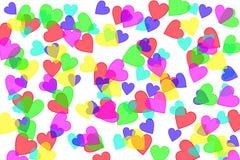 Heart shapes on white vector illustration