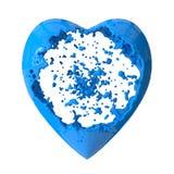 Heart shaping fluid explosion Stock Photos