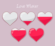 Heart Shapped Love Meter Valentines Day Bakcground Stock Image