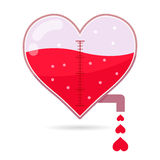 Heart Shapped Tap Dripping Small Love. Vector stock of heart shaped water tap dripping small heart icons Royalty Free Stock Photos