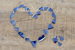 Heart shards Stock Images