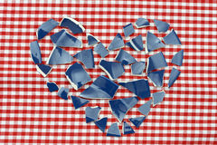 Heart shards Stock Photo