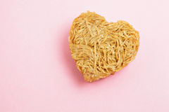 Heart sharp noodle Stock Photo