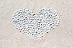 Heart of shells Stock Photography
