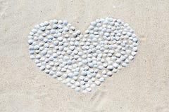 Heart of shells Stock Photography